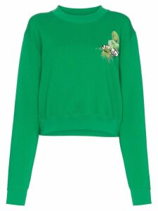 Off-White graphic print cropped sweater - Green