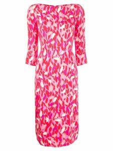 Elisabetta Franchi fitted petals dress - Pink