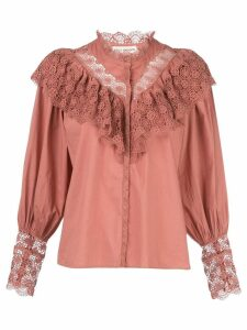 Ulla Johnson Ethel lace-trimmed blouse - Red