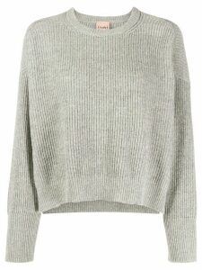 Nude ribbed knit pullover - Grey
