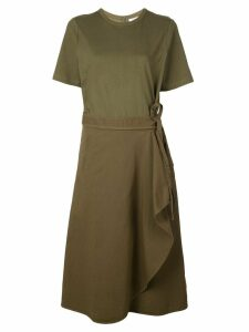 Sea wrap-around midi dress - Green