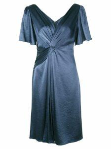 Elie Tahari Silvana twist-detail dress - Blue