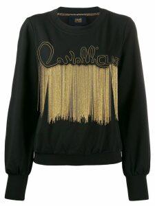 Cavalli Class fringed sweater - Black