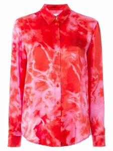 Nobody Denim tie-dye print shirt - Red