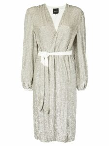 Retrofete sequin wrap dress - Gold