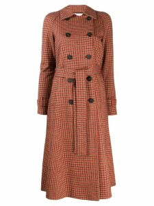 Harris Wharf London check print double-breasted coat - Red
