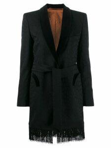 Blazé Milano fringed blazer - Black