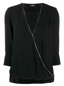 Elisabetta Franchi wrapped front blouse - Black