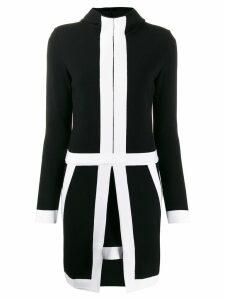 Genny two-tone dress - Black