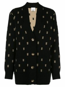 Burberry monogram oversized cardigan - Black