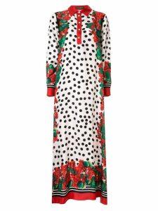 Dolce & Gabbana polka dot long dress - Multicolour