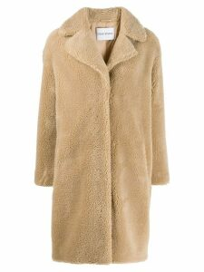 STAND STUDIO concealed fastened coat - Neutrals