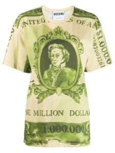 Moschino Watercolour Money print T-shirt - Green