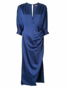 Manning Cartell satin midi dress - Blue