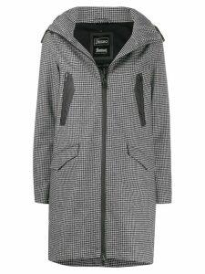 Herno houndstooth hooded jacket - Black