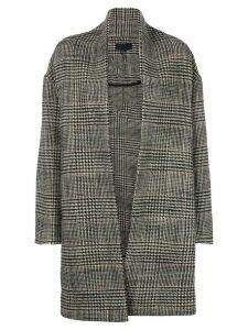 Nili Lotan oversized check pattern coat - Black