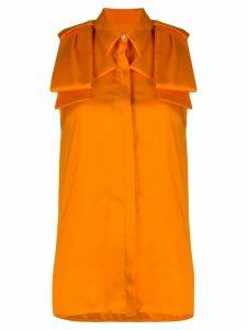Victoria Victoria Beckham sleeveless longline blouse - Orange