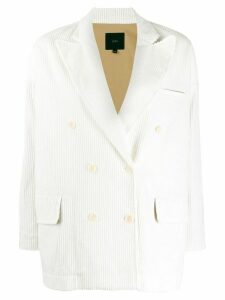 Jejia double breasted corduroy blazer - White