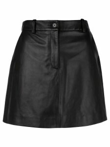 Nili Lotan leather mini skirt - Black