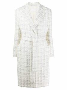 Genny tie waist coat - White