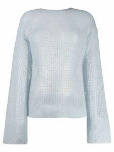 Genny open knit jumper - Blue