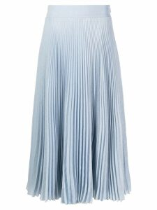 Genny pleated midi skirt - Blue