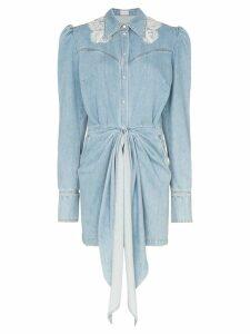 Magda Butrym Wicksville denim mini dress - Blue