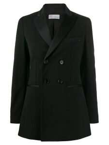Red Valentino double breasted tuxedo blazer - Black