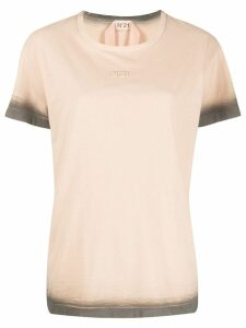 Nº21 dyed sleeve T-shirt - Brown