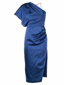 Manning Cartell one shoulder satin dress - Blue
