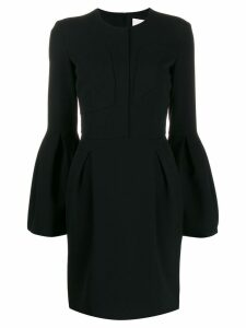Genny bell sleeved dress - Black