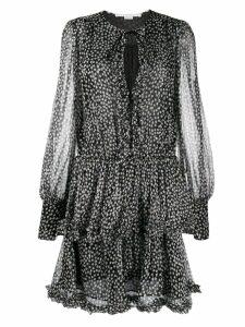 Stella McCartney frilled polka-dot print dress - Black