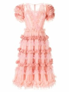 Dolce & Gabbana ruffled midi dress - Pink