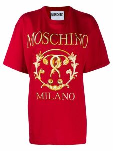 Moschino Milano logo T-shirt - Red
