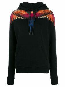Marcelo Burlon County Of Milan Wings print hoodie - Black