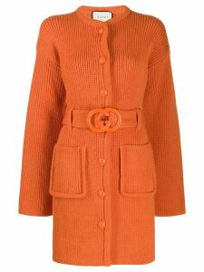 Gucci interlocking G belted cardi-coat - Orange