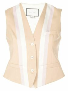 Alexis fitted striped vest - Brown