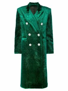 Attico oversized velvet coat - Green