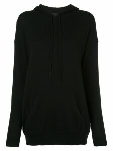 Nili Lotan fine knit hoodie - Black