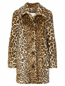 Sandy Liang Leopard print faux fur coat - Brown