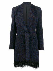 Blazé Milano fringed blazer - Blue