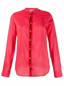 Forte Forte long sleeved sheer blouse - Red