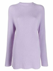 Joseph long-line knit jumper - Purple