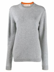 Marni crew neck cashmere jumper - Grey