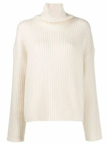 Joseph turtle neck ribbed jumper - Neutrals