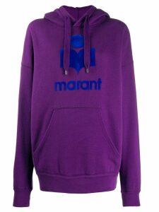 Isabel Marant Étoile printed logo hoodie - Purple