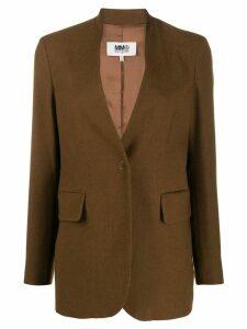 Mm6 Maison Margiela classic tailored blazer - Brown