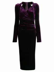 Talbot Runhof ruched dress - Purple