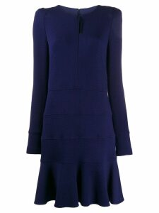 Talbot Runhof fitted pleated dress - Blue