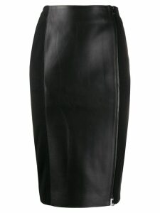 Karl Lagerfeld zip up pencil skirt - Black